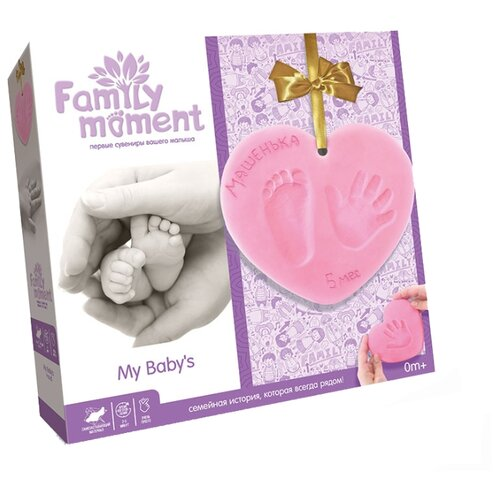 Купить Family Moment Набор для изготовления слепков Первые сувениры вашего малыша Девочкам, Гипс