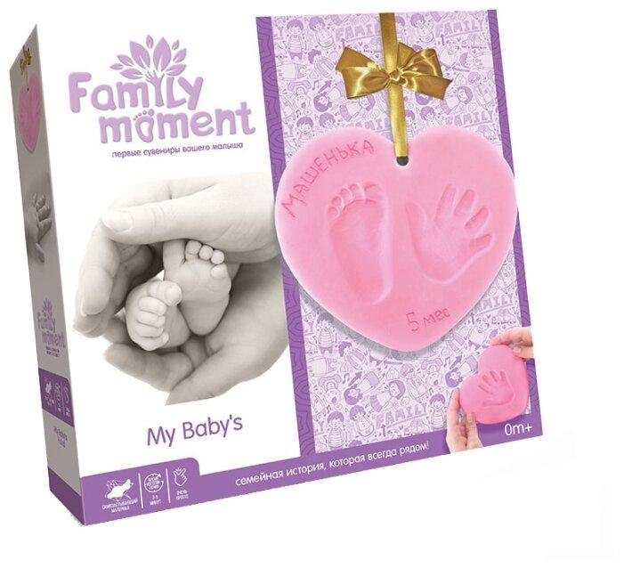 Family Moment Набор для изготовления слепков Первые сувениры вашего малыша Девочкам