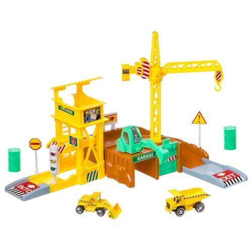 Купить Yako Строительная площадка M7989-1 желтый/коричневый/серый/зеленый, Детские парковки и гаражи