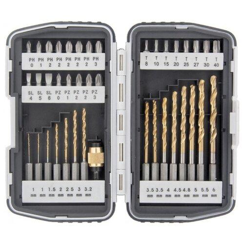 цена на Набор бит и свёрл Matrix (40 предм.) 11322 серый/серебристый