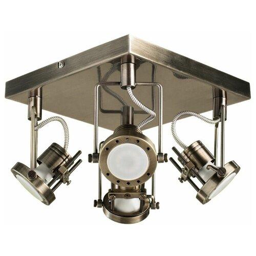 Фото - Спот Arte Lamp Costruttore, A4300PL-4AB люстра arte lamp a6061pl 4ab