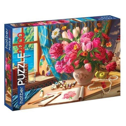 Купить Пазл Hatber Premium Акварельный букет (2000ПЗ1_19724), 2000 дет., Пазлы