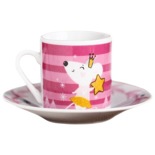 Дорого внимание Чайная пара Люблю зиму 70 мл розовый