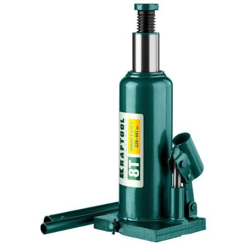 Домкрат бутылочный гидравлический Kraftool Kraft-Lift 43462-8_z01 (8 т) зеленый
