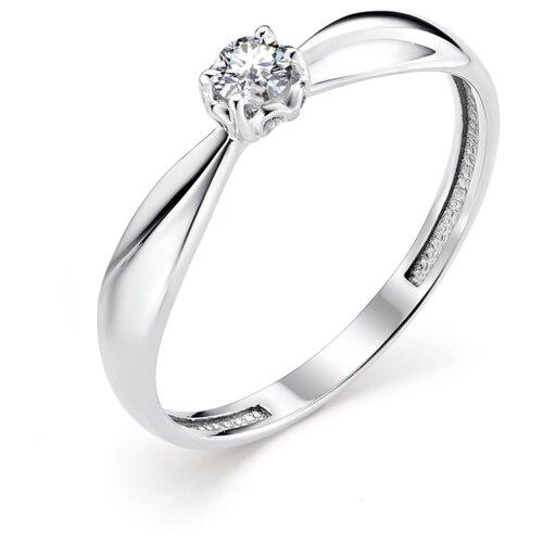 АЛЬКОР Кольцо с 1 бриллиантом из белого золота 12830-200, размер 17 алькор кольцо с 1 бриллиантом из белого золота 13299 200 размер 17