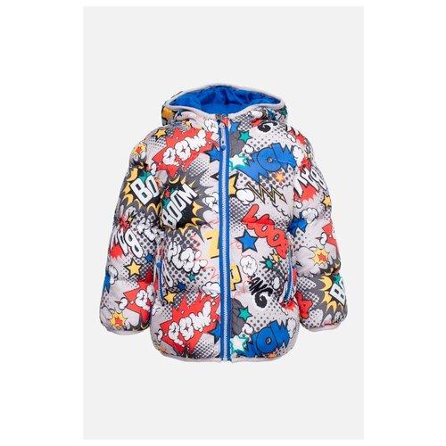 Куртка playToday размер 80, серый/белый/синий/желтый/красный комбинезон playtoday размер 56 синий красный желтый
