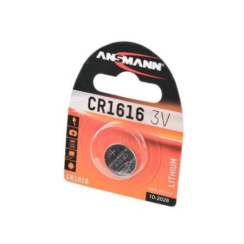Батарейка ANSMANN CR1616 1 шт блистер батарейка ansmann cr2025 1 шт блистер