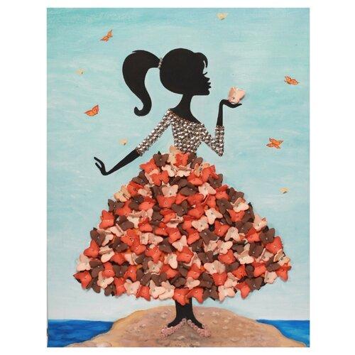 Купить Волшебная Мастерская Мозаика из пайеток Девочка с бабочками МХ-22, Картины из пайеток
