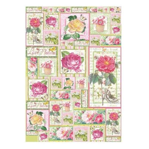 Купить Карта для декупажа Любимые розы 50 х 70 см 1 лист, Stamperia, Карты, салфетки, бумага