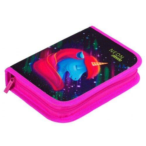 Купить Berlingo Пенал Neon Unicorn (PK06210) розовый/черный, Пеналы