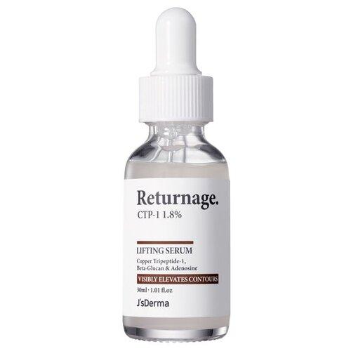 JsDerma Returnage CTP-1 1.8% Lifting Serum Лифтинг сыворотка с пептидом меди для лица, 30 мл naturalis easy lifting serum сыворотка для лица лифтинг эффект 30 мл