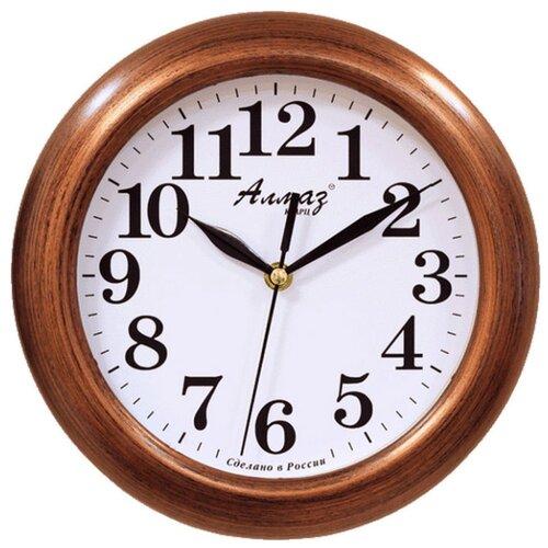 Часы настенные кварцевые Алмаз P14-P25 медный/белый