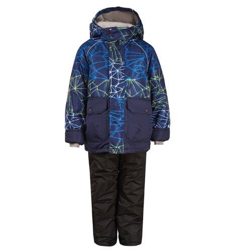 Купить Комплект с полукомбинезоном Oldos размер 92, темно-синий, Комплекты верхней одежды