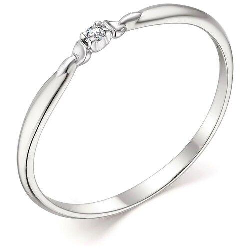 АЛЬКОР Кольцо с 1 бриллиантом из белого золота 13802-200, размер 17 алькор кольцо с 1 бриллиантом из белого золота 12869 200 размер 17 5