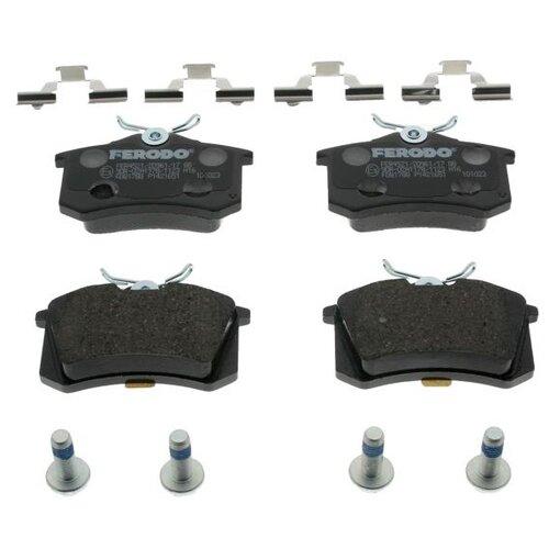 Дисковые тормозные колодки задние Ferodo FDB1788 для Audi, Renault, SEAT, Skoda, Volkswagen (4 шт.) дисковые тормозные колодки передние marshall m2621974 для skoda volkswagen seat audi 4 шт