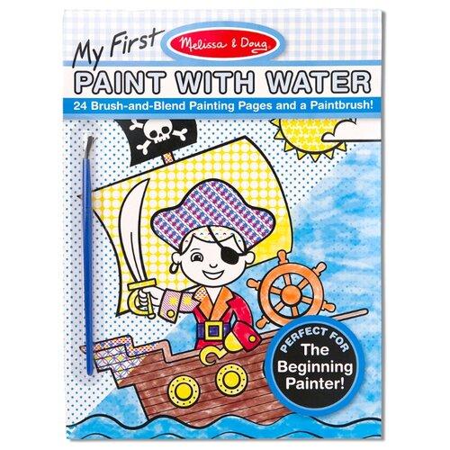 Купить Melissa&Doug Творчество Набор Впервые рисуем водой , голубой, 24 стр, Melissa & Doug, Наборы для создания украшений