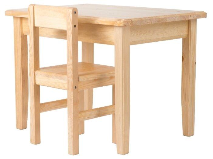 Комплект КИН стол + стул Дерево (3-5)