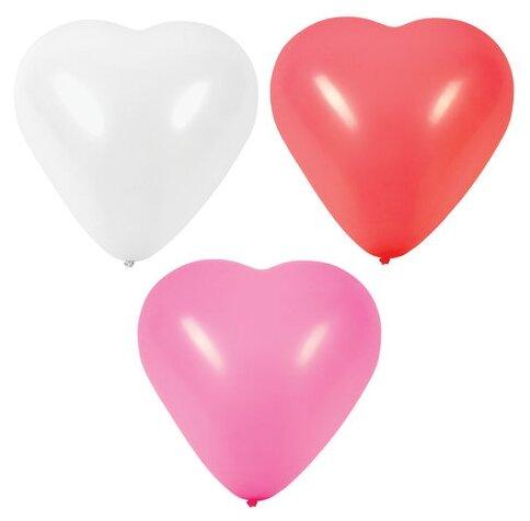 Набор воздушных шаров Золотая сказка Сердце 105008 (50 шт.)