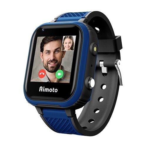 Детские умные часы c GPS Aimoto Indigo черный/синий
