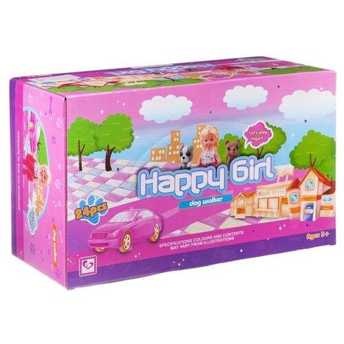 Купить Набор куколок Гратвест 24 штуки, Happy Girl, с собачкой, Куклы и пупсы