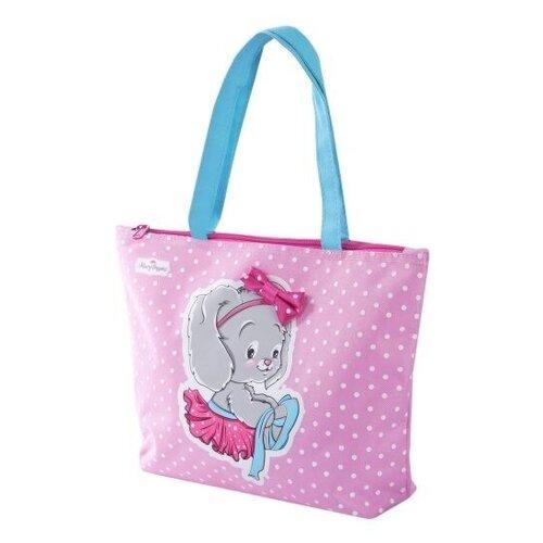 Фото - Сумка тоут Mary Poppins, текстиль, голубой/розовый сумка бочонок mary poppins зайка 530035 пластик розовый голубой
