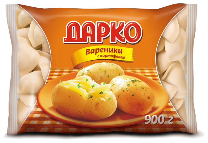 Дарко вареники с картофелем 900 г