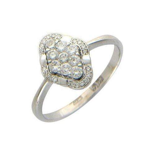 Эстет Кольцо с 29 бриллиантами из белого золота 750 пробы 01К674596Z, размер 19 фото