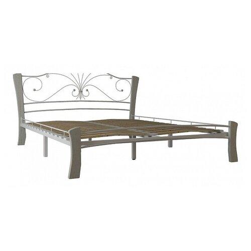 Кровать Форвард-мебель Фортуна 4 двуспальная, размер (ДхШ): 209х178.5 см, каркас: металл, цвет: белый