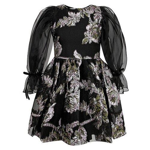 Купить Платье David Charles размер 134, черный/розовый, Платья и сарафаны