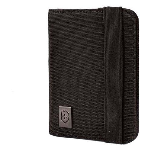 Обложка для паспорта с защитой от сканирования RFID, чёрная, нейлон 800D, 10x1x14 см
