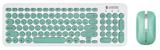 Клавиатура и мышь Jet.A SlimLine KM30 W White-Pink USB