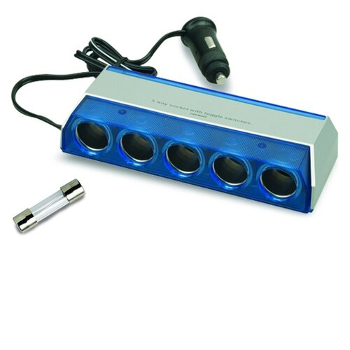 Разветвитель прикуривателя AVS CS501 синий