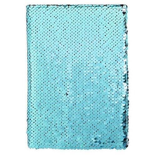Купить Блокнот Pastila Sequins A5, 50 листов (бирюзовый), Блокноты