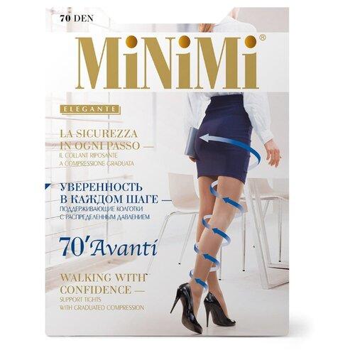 Колготки MiNiMi Avanti 70 den, размер 2-S/M, fumo (серый) колготки minimi lanacotone 180 den размер 2 s m fumo серый