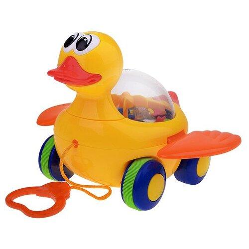 Каталка-игрушка Play Smart МиниМи утенок (Р0916RPS/L) со звуковыми эффектами желтый, Каталки и качалки  - купить со скидкой