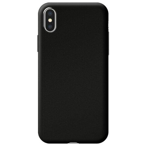 Чехол-накладка Deppa Silk Case для Apple iPhone Xs Max черный металлик чехол накладка deppa gel plus case матовый для apple iphone x xs розовое золото