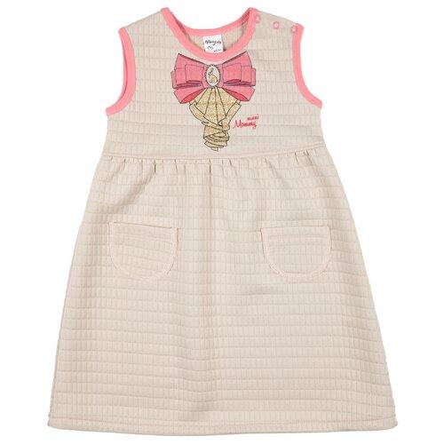 Купить Сарафан Viva Baby размер 116, бежевый, Платья и сарафаны