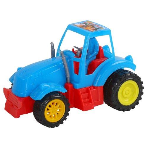 Купить Трактор Джамбо Тойз JB5300120 17 см синий, Машинки и техника