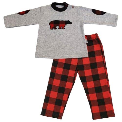 Купить Комплект одежды Папитто размер 68, серый/красный, Комплекты