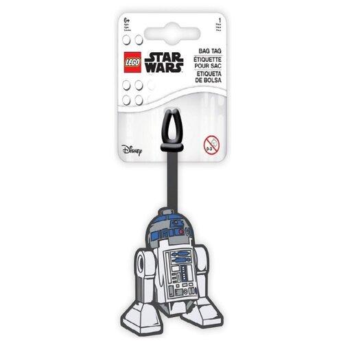 Бирка для багажа LEGO Star Wars R2D2, голубой/белый/серый lego бирка для багажа lego star wars movie 2 дупло
