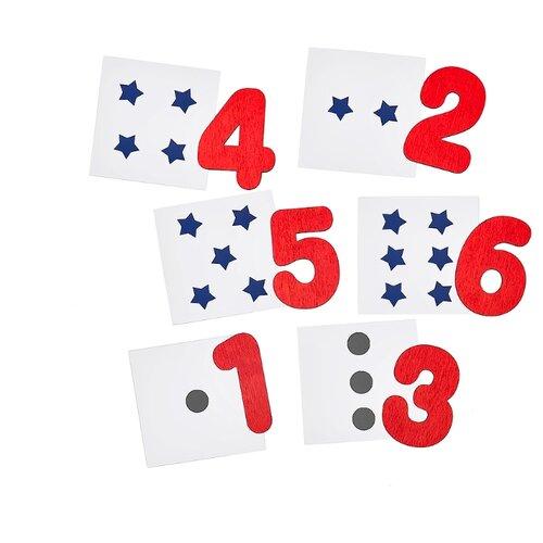 Купить Обучающий набор SmileDecor Цифры П241 красный/белый/синий, Обучающие материалы и авторские методики