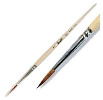 Кисть Roubloff колонок №1, круглая, с длинной ручкой