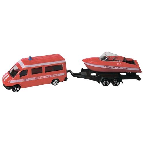 Купить Набор техники Пламенный мотор Пожарная охрана (870366) красный, Машинки и техника