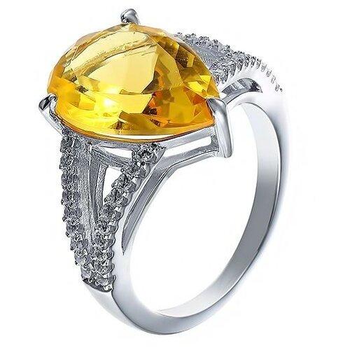 JV Кольцо с стеклом и фианитами из серебра SY-356155-R-KO-US-003-WG, размер 18 jv кольцо с фианитами из серебра sy 355491 r 003 wg размер 18 5