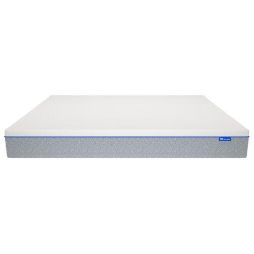цена Матрас Blue Sleep Гибридный матрас 100x200 пружинный двухзонный светло-серый онлайн в 2017 году