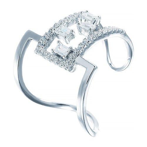 JV Кольцо с фианитами из серебра R26064-W-KO-001-WG, размер 17 jv кольцо с фианитами из серебра r25858 001 wg размер 17