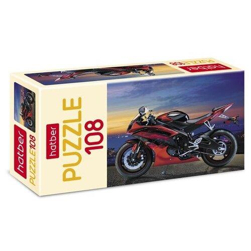 Пазл Hatber Мотоцикл (108ПЗ4_07033), 108 дет. пазл hatber черный мотоцикл 179пзк4 13407 179 дет