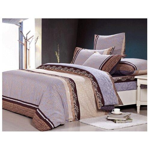 Постельное белье 2-спальное СайлиД A-156, поплин бежевый/серый постельное белье сайлид а97 1 двуспальное