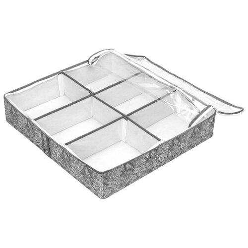 HOMSU Органайзер для обуви Grey Flower HOM-1095 серый/белый органайзер для обуви 66х63х11 homsu органайзер для обуви 66х63х11