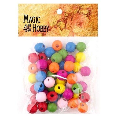Бусины деревянные детские Magic 4 Hobby, 145х105х10 мм (260±3 штуки) бусины деревянные детские 40 г mg b magic 4 hobby желтый зеленый